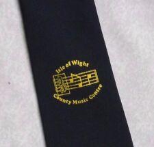 Isola di Wight County Music Centre Tie retrò vintage blu navy anni'90 da Leonard Hudson