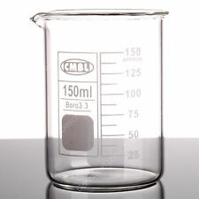 2pcs 150ml Glass Beakerlow Form Gg17 Beakers Withspout Mouthlab Glassware