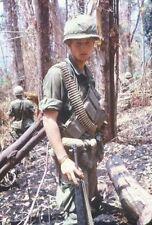 Vietnam War U.S. Army Platoon On Patrol Glossy 8x10 Photo
