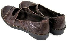 Clarks Bendables Women's $75 Mary Janes Shoes Size 8 Slip-ons Leather Engraved