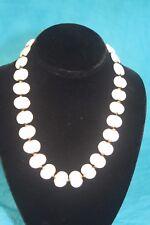 """NEW - KAZURI 18"""" SHALE Beaded Necklace White sku #1872"""