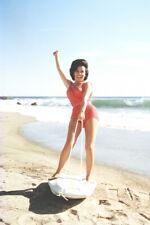 BEACH BLANKET BINGO ANNETTE FUNICELLO ON SURF BOARD ON BEACH 24X36 POSTER