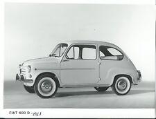 Fiat 600D 1961 Exterior & Interior Original Press Photograph x 2