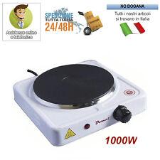 Fornello Elettrico 1 Piastra Ghisa Potenza 1000 W Portatile Da Viaggio Campeggio
