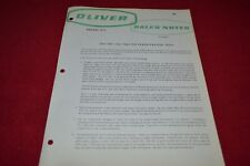 Oliver Tractor Demonstration Test For 1800 1900Tractor Sales Notes Brochure PBPA