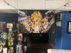 New 32x22apx Kobe Bryant vinyl banner POSTER Los Angeles Lakers Lebron James