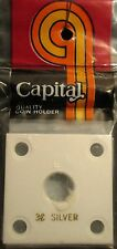 "CAPITAL PLASTICS: 2""X 2""  3-CENT SILVER COIN DISPLAY W/FREE SHIPPING!!!"
