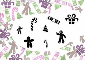 Card-io Christmas Treats Majestix Clear Peg Stamps CDMACH-01