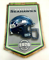 "WinCraft Wood Sign Seattle Seahawks NFL Mancave 16"" x 11"""