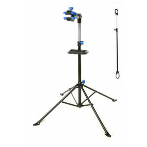Adjustable Bike Repair Work Stand With Bonus Tool Tray For Home Bicycle Mechanic