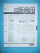 Service Manual-Anleitung für Yamaha CDX-510,ORIGINAL