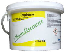 2,5kg Oxalsäure-Pulver (Kleesäure, Ethandisäure), min 99,6%