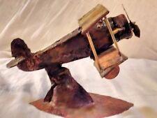 biplane copper sculpture*handmade*artisa n*folk art