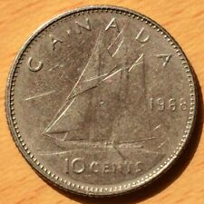 CANADA Coin 1968 P 10 CENTS Nickel Elizabeth II - Philadelphia Mint
