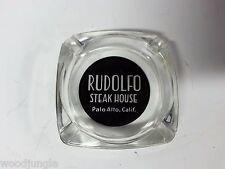 RARE Vintage MID CENTURY  RUDOLFO STEAH HOUSE RESTAURANT GLASS ASHTRAY PALO ALTO