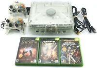 Microsoft Xbox Crystal Limited Edition Console Bundle w/ 3 Games 2 Controllers