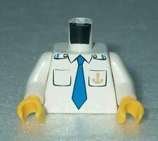 TORSO M011 Lego Male Boat Captain, Boat Anchor, Blue Tie  NEW