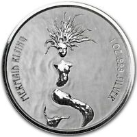 2018 ~ FIJI ~ .999 PURE SILVER ~ MERMAID RISING COIN ~ MINT CAPSULE ~ $29.88 BUY