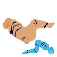 7Pc Full Body Fetish Belt Bondage Restraint Aid Bed Body Leg Strap TOP Leather