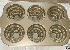New listing Cast Aluminum Tiered Cakelet Pan by Nordic Ware - Mini Wedding Cakes - 6 Cup