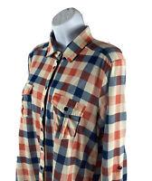 Woman's Oliva & Eden Medium M Shirt Plaid Long Sleeve Button Down Shirt Blouse