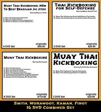 Worawoot, Finot, Smith, Kaman Combined 4 Complete Sets on Muay Thai (16 DVDs)