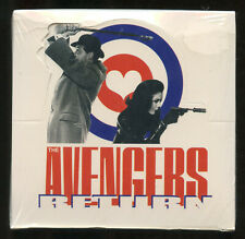 Vintage: THE AVENGERS RETURN Trading Cards. Unopened box. 1995. UK TV series.