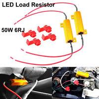 2x 50W 6 ohm Load Resistor Fix LED Bulb Fast Hyper Flash Turn Signal Blink