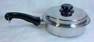 """SALADMASTER TP304-316 9"""" INCH SURGICAL STAINLESS STEEL 2PC SKILLET & VAPO LID"""