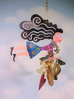 Fanciful Flight Karen Rossi Bat Mitzvah Girl Ornament Silvestri 2000 Judaica EUC