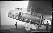 2.25x4 Original Negative Fokker F-32 Pan Am Airliner Boston Airport 1930 #201644