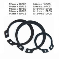 External Retaining Ring Carbon Steel Black Phosphate 5 Pieces Rotor Clip DSH-90ST PD 90 mm