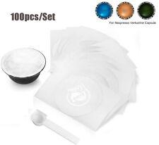 100pcs Aluminum Foil Seals Lid Sticker For Nespresso Vertuoline Capsule Pod 59mm