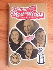 1976-77 50th Anniversary DETROIT RED WINGS Facts Book ED GAICOMIN Jim Rutherford