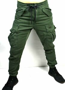 True Religion Men's Military Green Relaxed Cargo Jeans - M19HD83Y1G Size 28