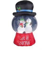 6.5' Gemmy Snowman Snow Globe Christmas Airblown Inflatable - Yard Decor Frosty