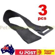 3x Elastic Velcro Strap Hook Loop Bungee Belt Wrap Cable Tie Reusable 3.8x40cm