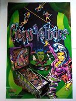 Bally Cirqus Voltaire Pinball Large Poster 1997 Original 36 X 24 Wall Artwork