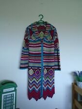 Monsoon girls long crochet style multicoloured cardigan age 10-12 years
