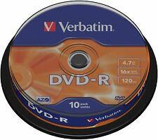 More details for verbatim dvd-r discs blank dvd 4.7gb 16x speed - 10 pack spindle
