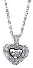 Swarovski Elements Crystal Treasure Heart Locket Pendant Necklace Rhodium 7104y