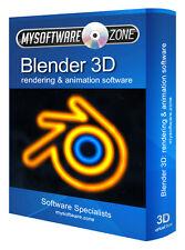 BLENDER 3D ANIMATION VIDEO GAME CREATION DESIGNER FULL COMPLETE SOFTWARE PROGRAM