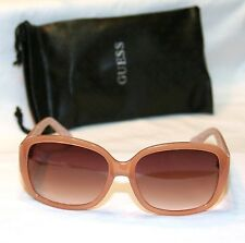 Genuine GUESS GF0271-72F-60 Women's Square Sunglasses TRANSLUCENT PEACH NEW!