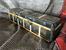 Old Tibetan Horn & Brass Inlaid Box …beautiful collection & display piece