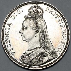 1887 QUEEN VICTORIA GREAT BRITAIN SILVER JUBILEE HEAD CROWN COIN