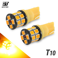 2X T10 168 High Power 2835 Chip LED Amber/Yellow Interior Light Bulbs