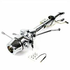 """33"""" Chrome Keyed Steering Column  Column Shift with 6 Hole Wheel Adapter"""