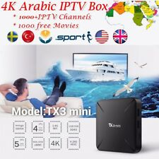 ARABIC TV IPTV BOX AFRICA USA UK ARABIC 1100 CHANNELS 1 YEAR FREE WITH SUPPORT