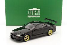 Nissan Skyline GT-R (R34) Baujahr 1999 schwarz 1:18 Greenlight
