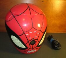 Working 2012 Marvel Ultimate Spiderman Head Cd Player Boombox Lexibook